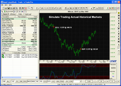 Historical Data Trading Simulation